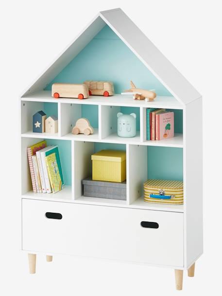 regal in hausform deko aufbewahren. Black Bedroom Furniture Sets. Home Design Ideas