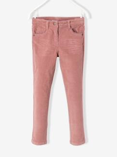 Fille-Pantalon-Pantalon slim fille en velours tour de hanches FIN