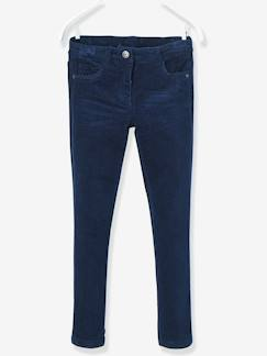 Hiver-Pantalon slim fille en velours tour de hanches MEDIUM