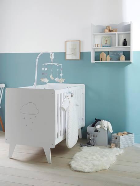 holz aufbewahrungsbox mit wolken griffen deko aufbewahren. Black Bedroom Furniture Sets. Home Design Ideas