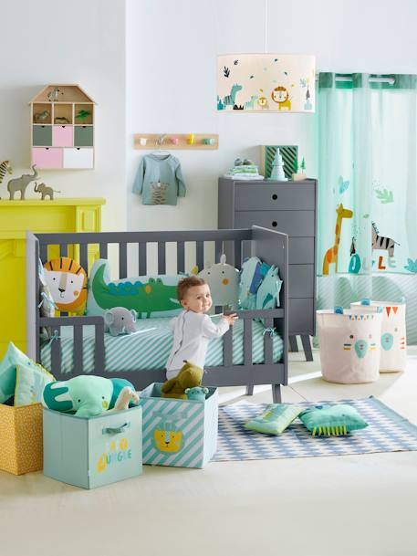 lampenschirm dschungel f r kinderzimmer deko aufbewahren. Black Bedroom Furniture Sets. Home Design Ideas
