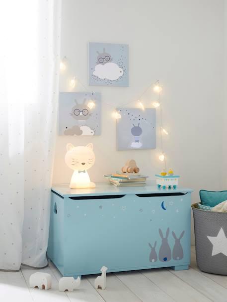 spielzeugkiste mit hasen deko aufbewahren. Black Bedroom Furniture Sets. Home Design Ideas