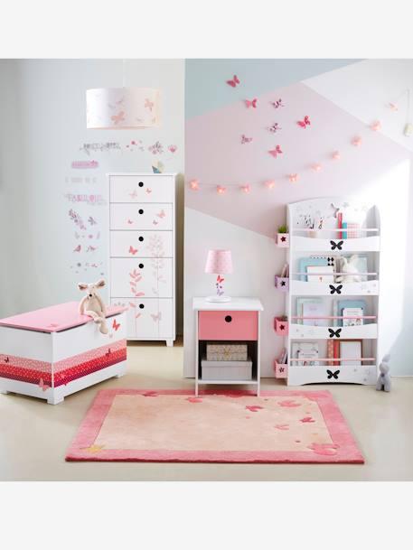 kinderzimmer teppich schmetterlinge rosa deko. Black Bedroom Furniture Sets. Home Design Ideas