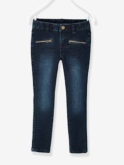 Fille-Pantalon skinny fille en denim tour de hanches LARGE