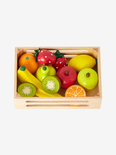 Cagette et jeu d'assemblage; fruits Multicolore
