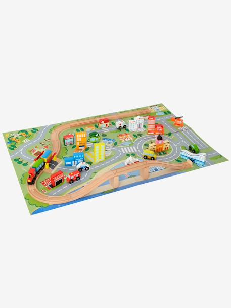 Tapis de jeu - circuit de train Beige