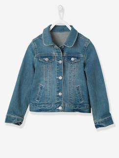 Fille-Manteau, veste-Veste fille en denim stretch