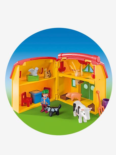 6962 Ferme transportable avec animaux Playmobil 1, 2, 3 JAUNE/MULTICOLOR