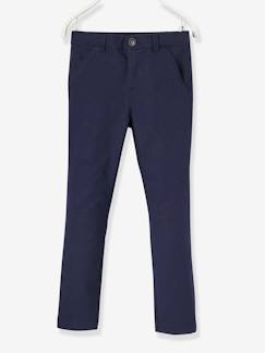 Collection cérémonie-Pantalon chino de costume garçon en coton et lin stretch