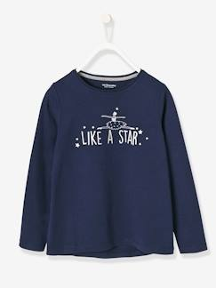 Fille-T-shirt, sous-pull-T-shirt fille, message