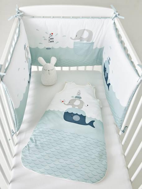 Nestchen Für Babybett Wal Hellblau Möbel Bettwäsche