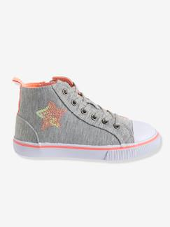 Chaussures-Chaussures fille 23-38-Baskets, tennis-Baskets montantes fille en toile
