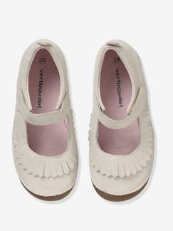 Chaussures-Chaussons ballerines fille en cuir