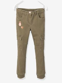 Pantalons-Pantalon slim battle fille