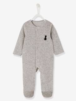Nouvelle Collection-Bébé-Pyjama bébé velours bio dos fantaisie