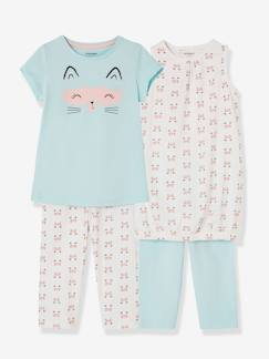 Collection prix malice-Fille-Lot de 2 chemises de nuit + 2 leggings fille combinables