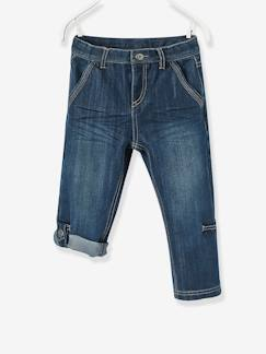 Collection été 2018-Pantacourt denim indestructible garçon transformable en bermuda