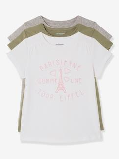 Collection prix malice-Fille-Lot de 3 T-shirts manches courtes, message