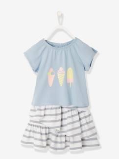 Fille-Ensemble fille Jupe + T-shirt
