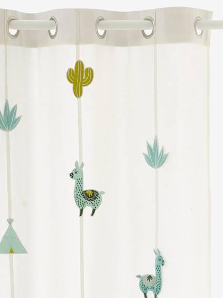 vorhang kaktus fur kinderzimmer wollweiss