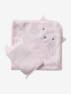 Nouvelle Collection-Meubles et linge de lit-Cape de bain + gant coton bio
