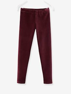 Fille-Legging-Legging en velours milleraies