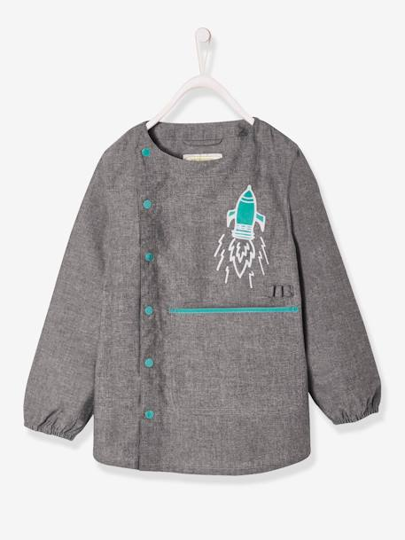 Tablier d'écolier en chambray, 'IntoSpace' CHAMBRAY GRIS