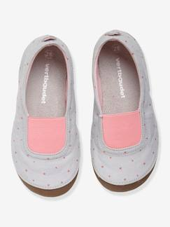 Chaussures-Chaussures fille 23-38-Chaussons fille à pois roses