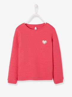 Rentrée des classes - maternelle-Sweat fille molleton texturé