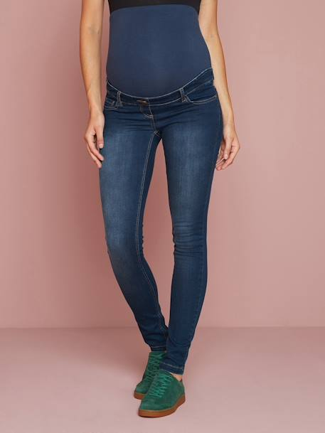 Jean slim stretch de grossesse entrejambe 85 Denim black+Denim brut+Denim gris+Denim stone