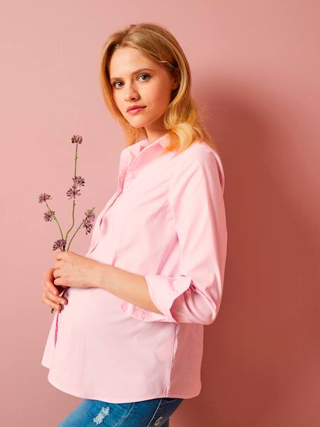 Umstands-Bluse, City-Look ROSA+Weiss