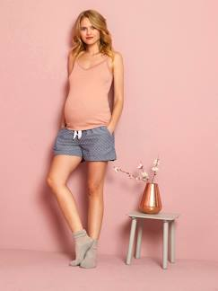 Future Maman-Pyjama, homewear-Short homewear de grossesse en chambray imprimé