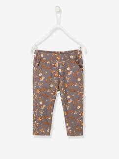 Baby-Hose, Jeans-Baby Thermohose mit Blumen