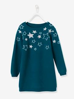 Robes-Robe pull fille étoiles brillantes