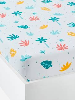 Nouvelle Collection-Meubles et linge de lit-Drap-housse enfant polycoton CROCOJUNGLE