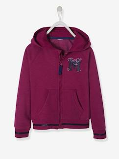 Fille-Sweat-Sweat fille zippé doublé