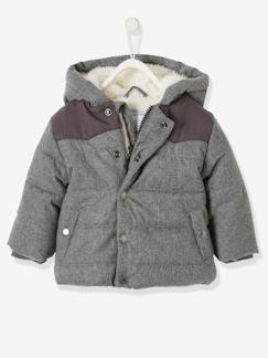 Baby-Mantel, Overall, Ausfahrsack-Mantel-Baby Jungen Winter-Steppjacke mit Kapuze