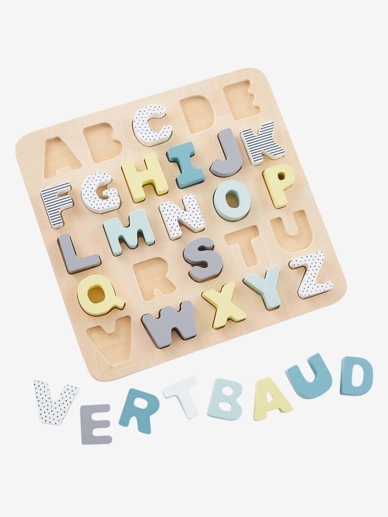 Buchstaben-Puzzle aus Holz für Kinder