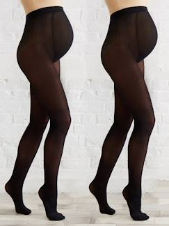 Future Maman-Lot de 2 collants opaques de grossesse