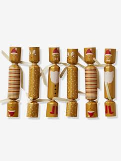 Décor de fêtes-Lot de 6 crackers de Noël