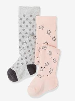 Bébé-Chaussettes, Collants-Lot de 2 collants bébé fantaisie