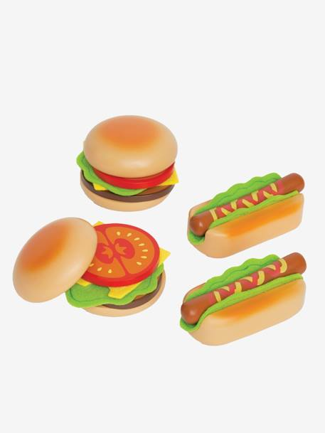 Hamburgers et hot-dog en bois HAPE MULTICOLORE