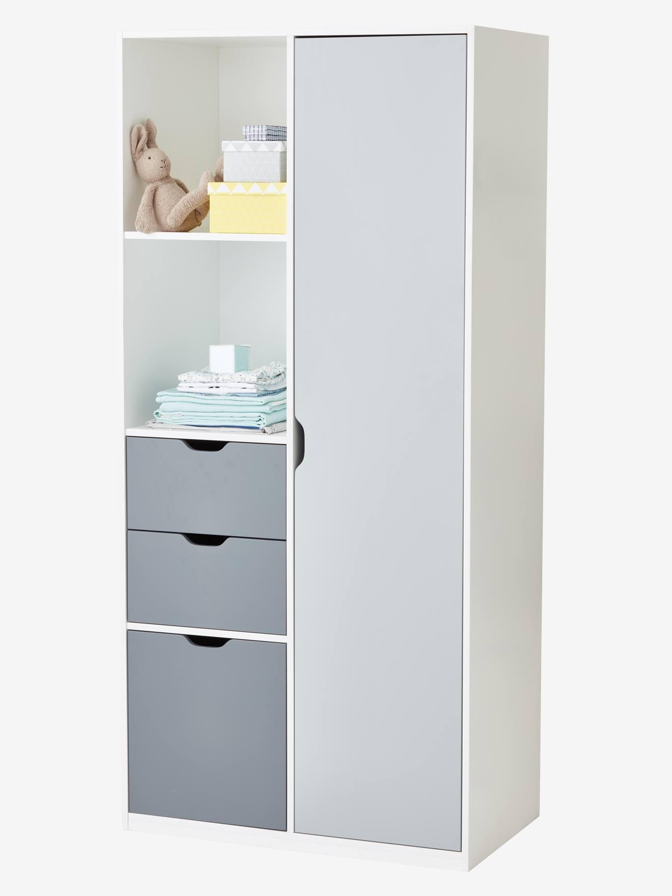 Mauvaise Odeur Armoire Linge armoire ligne passe-passe - blanc/gris, chambre et rangement