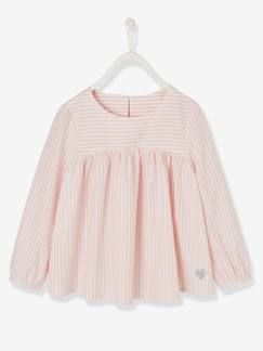 fille pop-Blouse fille rayures irisées