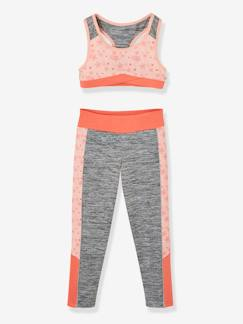 Fille-Pull, gilet, sweat-Sweat-Ensemble sport fille brassière + legging