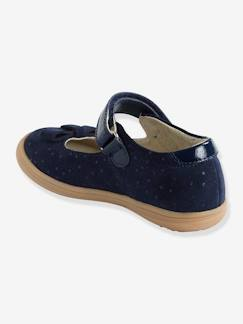 Chaussures-Chaussures fille 23-38-Baskets, tennis-Babies scratchées fille collection maternelle en cuir