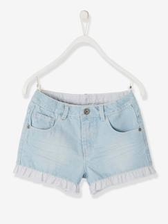 valisevacances-classedemer-Short en jean fille avec volants fantaisie