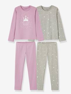La nouvelle collection 2019-Fille-Lot de 2 pyjamas fille combinables
