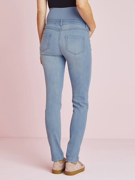 Jean slim stretch de grossesse entrejambe 78 Denim brut+Denim noir+Denim stone+TRIPLE STONE
