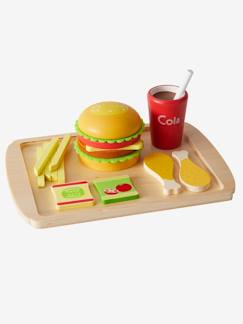 Nouvelle Collection-Jouet-Set Fast food en bois